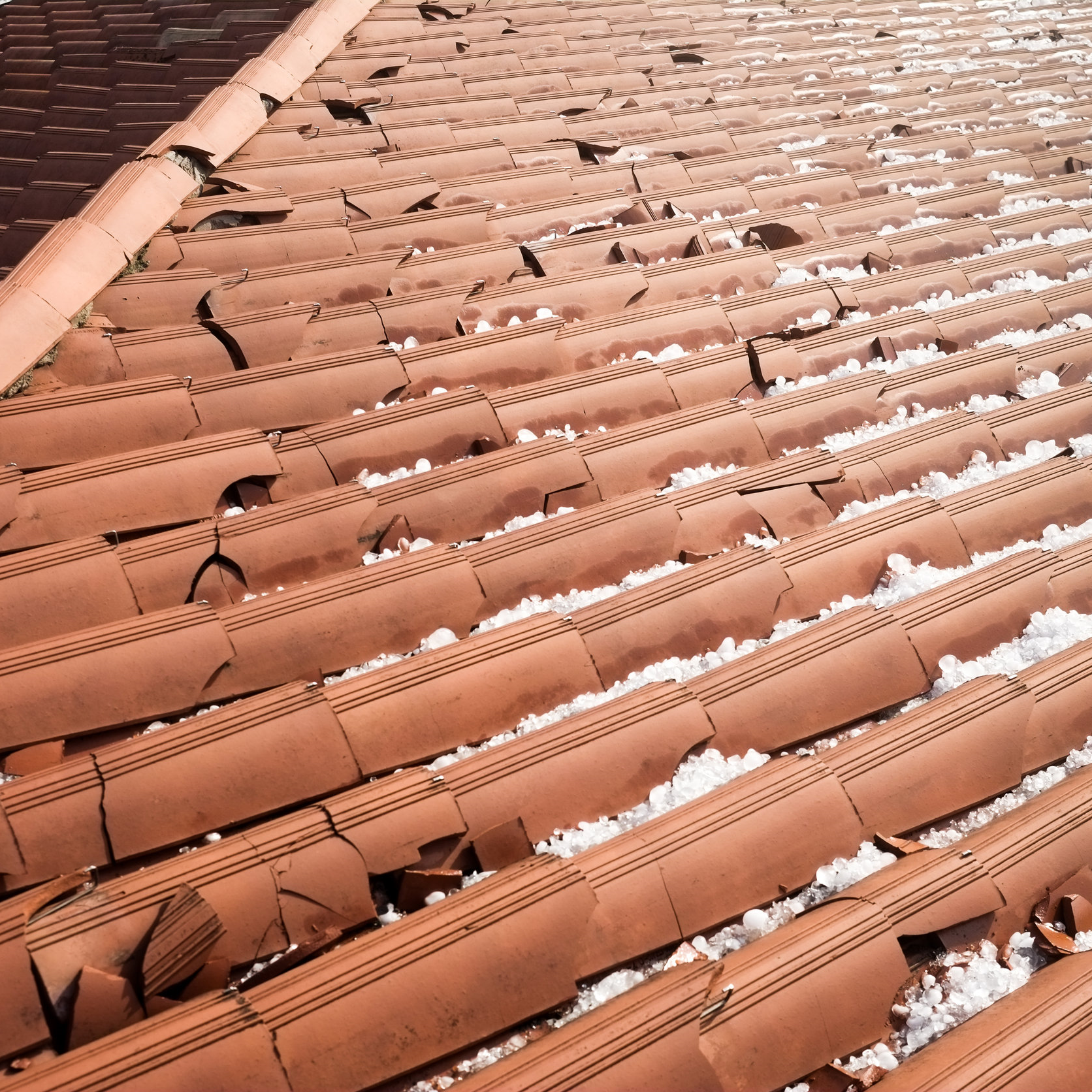 Hail roof damage